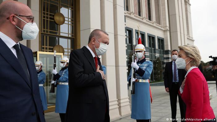 Türkei Präsident Recep Tayyip Erdogan empfängt Präsidentin der EU-Kommission Ursula Von der Leyen