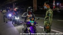 Philippinen Manila | Kontrolle während Coronavirus-Pandemie