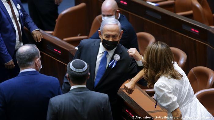 Benjamin Netanyahu in the Israeli Parliament