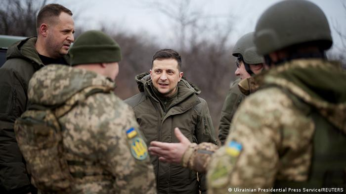Владимир Зеленский среди украинских солдат
