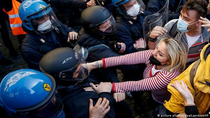 Протесты в Риме