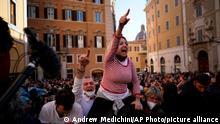 Italien Coronavirus Proteste in Rom