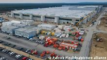 Baugelände der Tesla Gigafactory