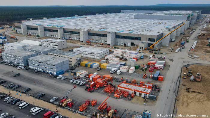 Der Kampf ums Wasser ist schon da: Baustelle des Tesla-Werks in Brandenburg