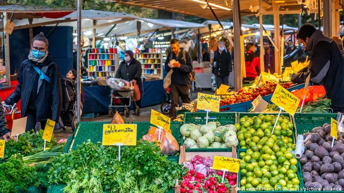 A vegetable stand at Berlin's weekly market on Maybachufer