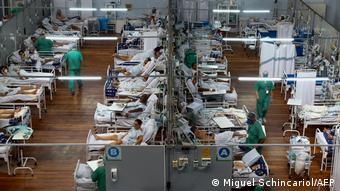 Полевой госпиталь в бразильском муниципалитете Санту-Андре