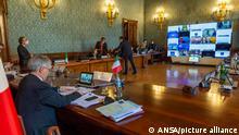 Italien G20 Finanzminister Treffen Daniele Franco Videokonferenz