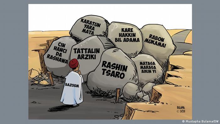 Cartoon Niger, Sicherheit/Politik Lage