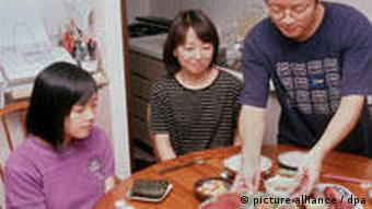 Japan Familie Essen Sushi Algen