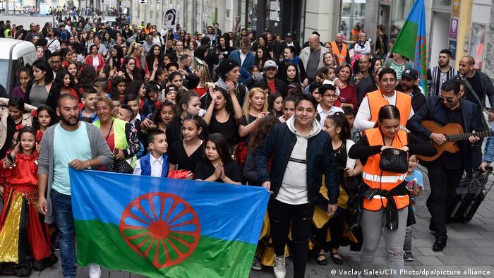 Roma Pride march in Brno, Czech Republic