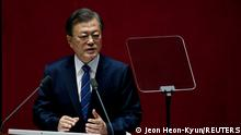 South Korea | Moon Jae-in während Generalversammlung in Seoul