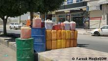Jemen Schwarzmarkt für Benzin in Sanaa