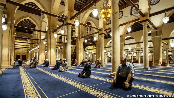 Ramadan 2020 Ägypten Kairo Gebet al-Azhar-Moschee