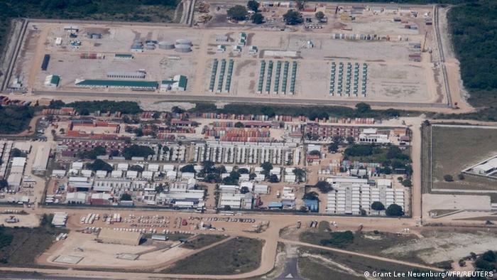Luftaufnahme des Gasprojekts Afungi
