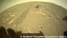 NASA Ingenuity Mars Helicopter vor dem ersten Flug auf dem Mars