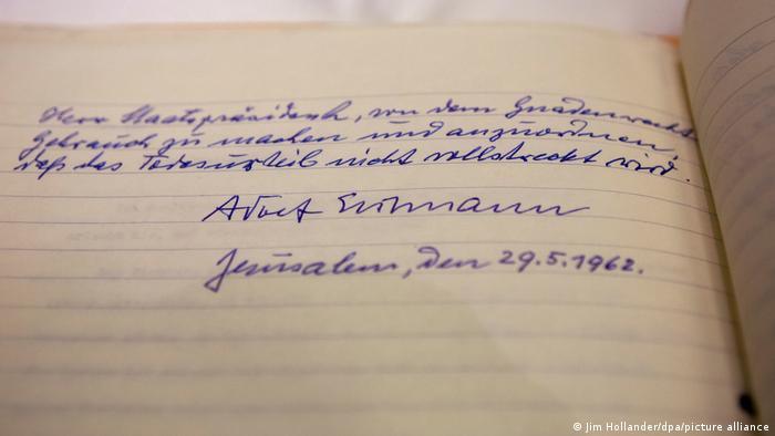 Прошение Эйхмана о помиловании, написанное за два дня до казни
