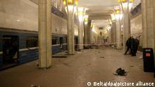 Belarus Minsk Anschlag auf U-Bahn Oktyabrskaya Station