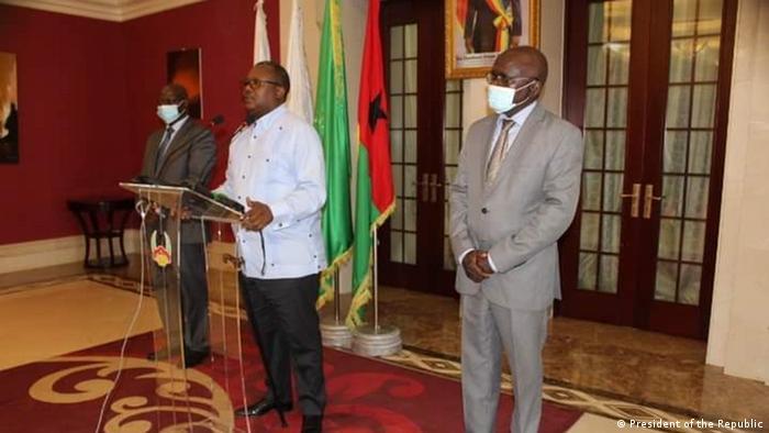 Guinea-Bissau | Treffen Präsident Umaro Sissoco Embalo mit Paulo Sanha und Fernando Gomes