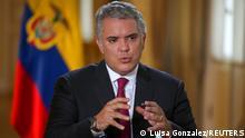 Kolumbien Präsident Ivan Duque in Bogota