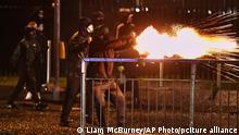 Heftige Unruhen in Nordirland