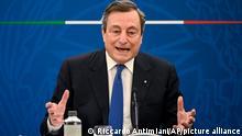 Italien Premierminsiter Mario Draghi