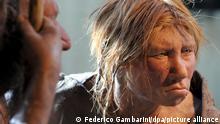 Deutschland Neandertalerin im Museum