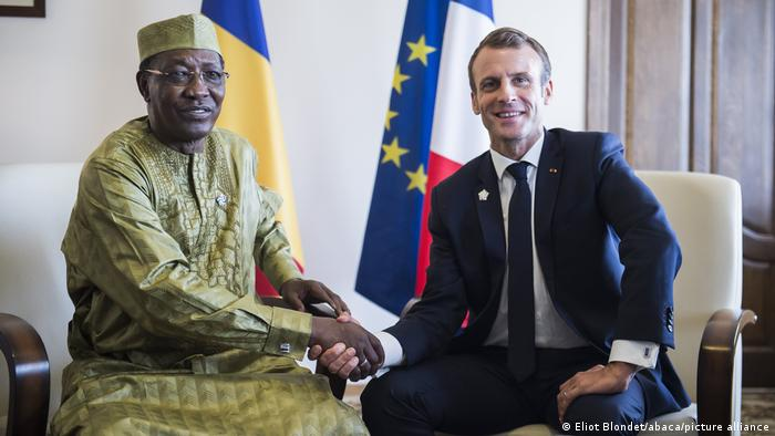 Idriss Déby Itno und Emmanuel Macron