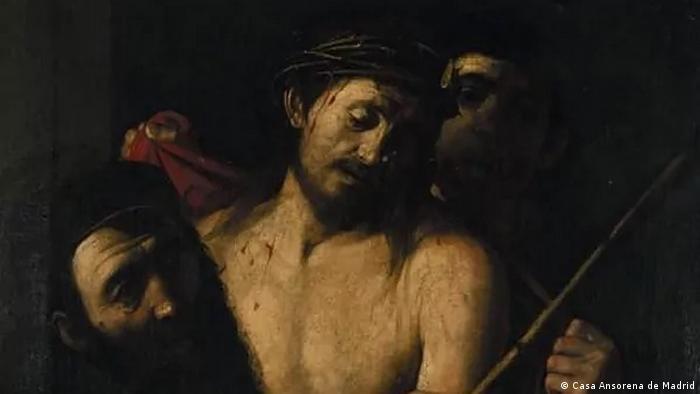 Tela Coroação com espinhos, atribuída a Caravaggio
