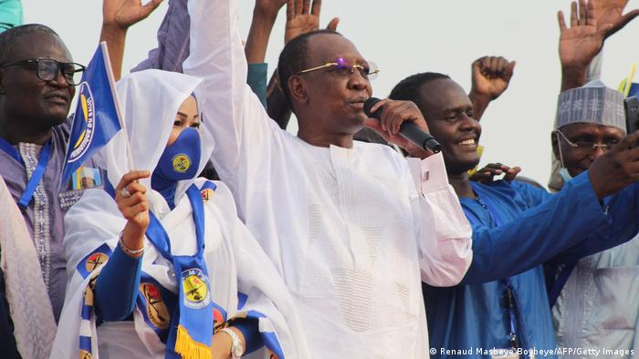 Tschad N'Djamena | Präsident Idriss Deby Itno im Wahlkampf