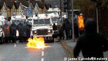 BG Nordirland - Ausschreitungen in Belfast