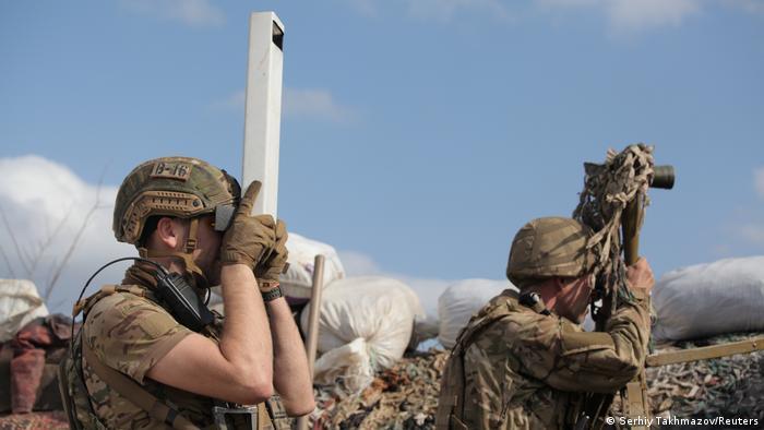 Українські військові поблизу Донецька