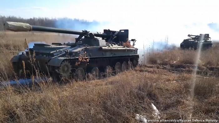 Российская военная техника во время объявленных РФ маневров