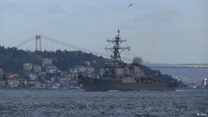ABD'nin Karadeniz'e göndereceği gemilerden birinin daha önce Boğaz'dan geçen güdümlü füze destroyeri USS Donald Cook olduğu belirtildi.