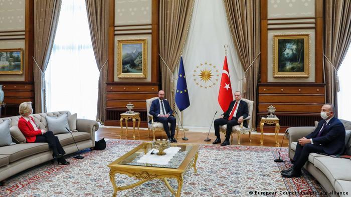 Türkei Ankara |Eklat um Sitzordnung | von der Leyern, Michel, Erdogan