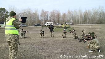 Тренировка батальона территориальной обороны