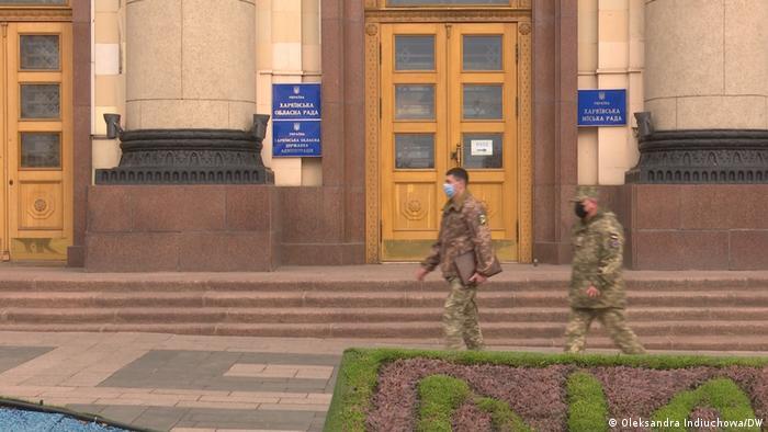 Военные на улице Харькова