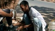 Äthiopien Bahirdar | Yiheyis Chale, Ingenieuer als Schuhreiniger