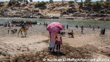 Äthiopien Eritrea Flüchtlinge Tigray Takeze Fluss