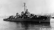 El USS Johnston en 1943: solo 141 de los 327 tripulantes sobrevivieron a la batalla.