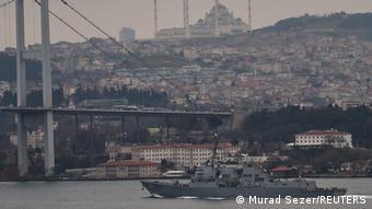 وزرات خارجه ترکیه اعلام کرد که آمریکا دو کشتی جنگی به دریای سیاه اعزام میکند. (عکس: عزیمت یو اس اس توماس هادنر بسوی دریای سیاه)
