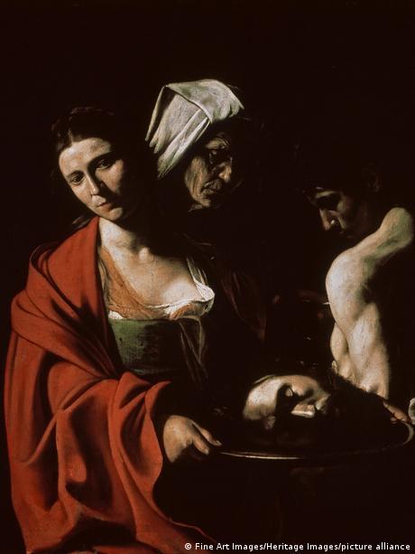 Salome mit dem Kopf des hl. Johannes des Täufers | Gemälde von Michelangelo Merisi da Caravaggio