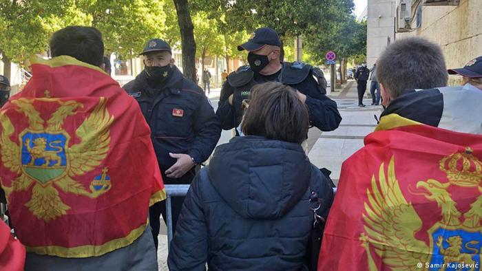 Montenegro Podgorica Proteste wegen Staatsbürgerschaft