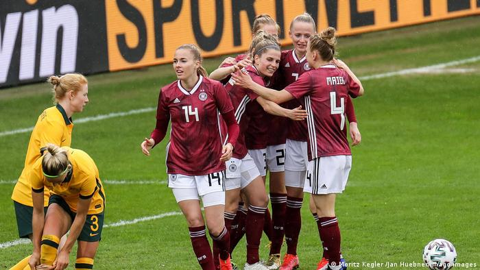 Germany celebrate a goal
