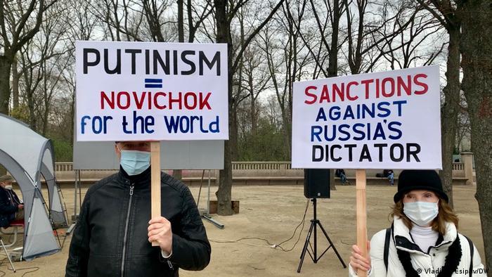Proteste in Berlin gegen Kremlchef Wladimir Putin