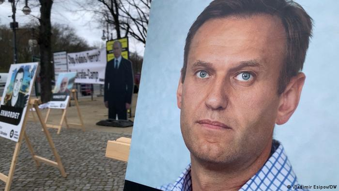 Акция в поддержку Алексея Навального в Берлине
