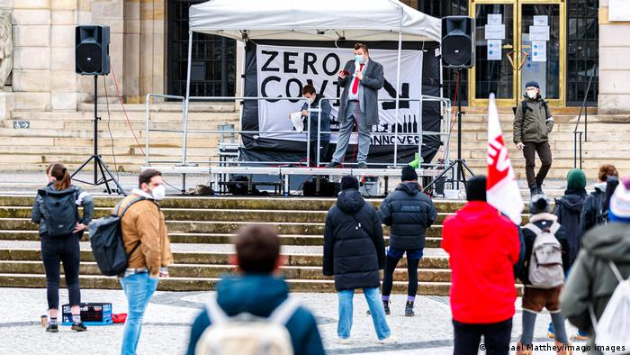 Hannover Coronavirus - Demonstration für harten Lockdown