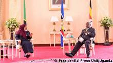 East Africa Oil Pipeline Abkommen | Samia Suluhu Hassan und Yoweri Museveni