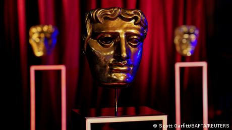 BAFTA award masks are seen on EE BAFTA Film Awards Opening Night