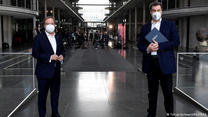 Weltspiegel 12.04.2021 | Deutschland Berlin |Armin Laschet (CDU) & Markus SÜder (CSU)