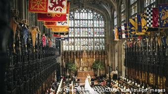St George's Chapel interior, Harry and Meghan wedding.